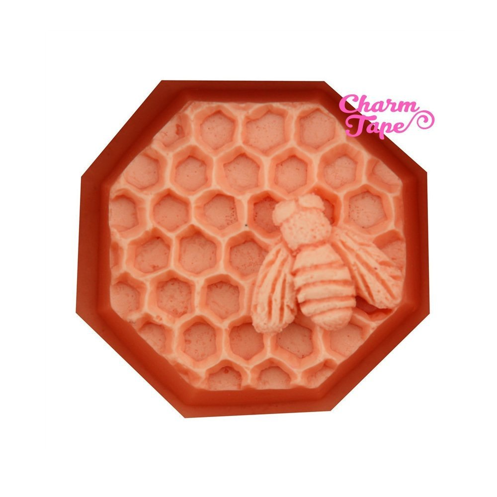 Honey Bee Hive Food Graded Silicon silicone mold for uv resin /cake/ fondant / soap making flexible mold H2968
