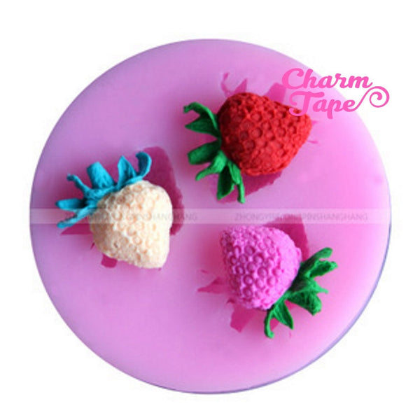 Strawberry strawberries Silicone Mold -food mold / uv resin molds C052