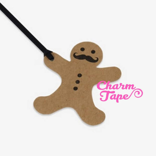 Blank Gingerbread man Kraft Paper Tags Packaging 50ct TT01