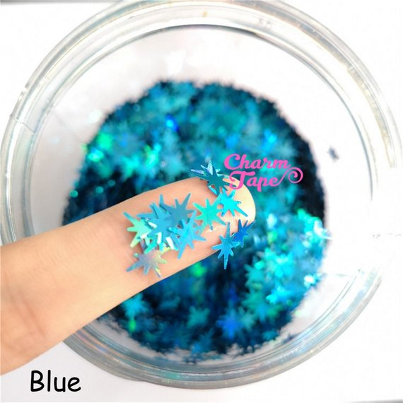 Big Snowflake Loose glitters 10mm UV resin / Laser / Holographic / Solvent Resistant / Slime Art / Nail Art / Resin Jewelry