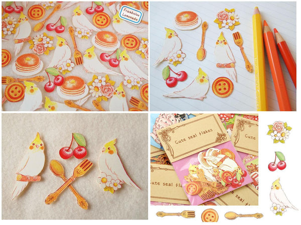 Cartoon Bird Sticker Flake Seals Set 70 pieces SS927 - CharmTape - 6