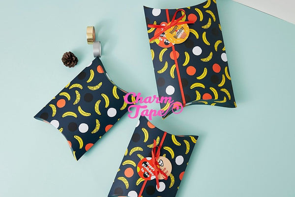 5pcs Colorful Flamingo or Banana Gift Box, Pillow Boxes For Candy, Treat - Party Favors Bags PB022 19x14 cm