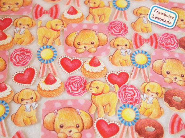Copy of White Puppy Dog Sticker Flake Seals Set 70 pieces SS925 - CharmTape - 3