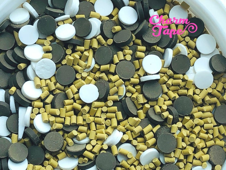 3g/15g/50g Smores Choc Chip Mix sprinkle Confetti polymer clay Holiday Topping Tiny Decoden Faux Miniature Fake Food 5mm sp542