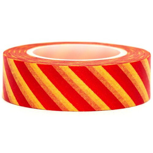 Stripes Washi Masking Tape Roll 15mm WT38 - CharmTape - 13