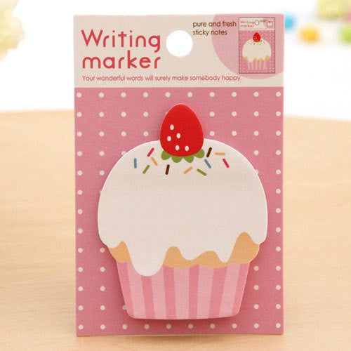 Cupcake Sticky Post It Memo Note Pad 20 sheets SS378 - CharmTape - 1