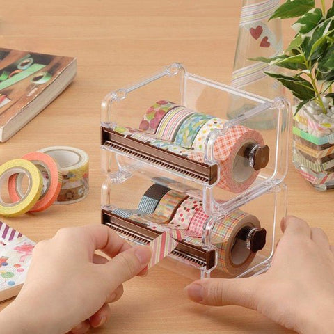 Washi Tape Dispenser Storage Case / Masking Tape Organizer / Tape Holder / Tape Cutter