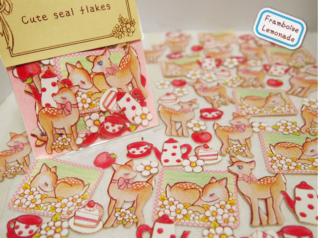 Bambi Deer Sticker Flake Seals Set 70 pieces SS924 - CharmTape - 1