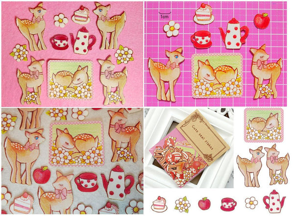Bambi Deer Sticker Flake Seals Set 70 pieces SS924 - CharmTape - 4