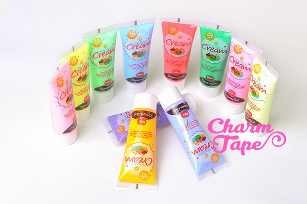 Silicon Whipped Cream 50ml Tube Fake Frosting (Free 3 piping tips) - CharmTape - 2