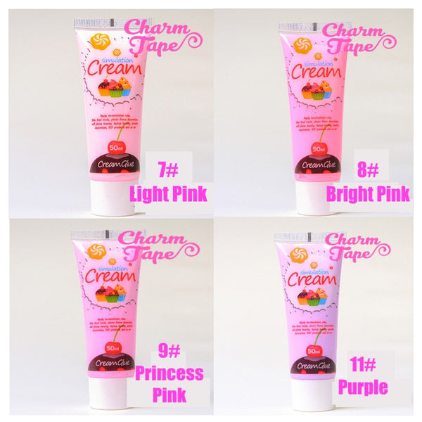 Silicon Whipped Cream 50ml Tube Fake Frosting (Free 3 piping tips) - CharmTape - 5