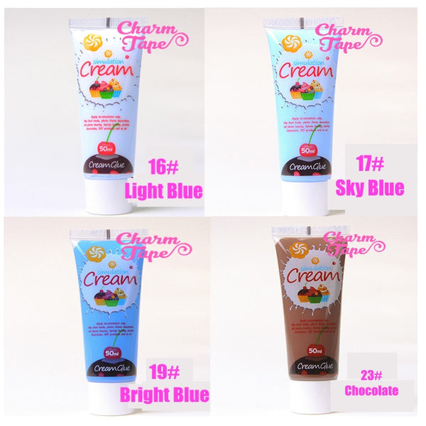 Silicon Whipped Cream 50ml Tube Fake Frosting (Free 3 piping tips) - CharmTape - 6