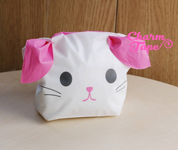 Dog or Bunny Bags // Cello Bags // Party Bags // Self Sealing bags Set of 25 bags CB21 15x18x6 cm