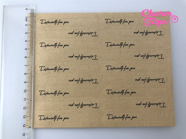 "90/180ct ""Especially for you"" 7.8cm Kraft Paper Stickers For Gift Packing Packaging 5/10 sheets GS028"