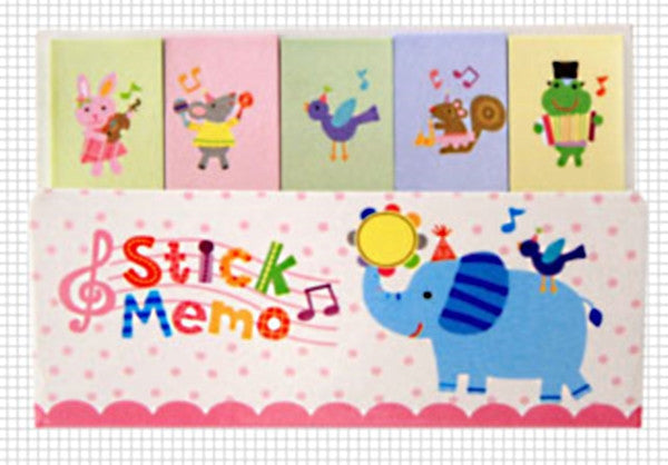 Blue elephant Sticky Post It Memo Note Pad 210sheets SS264 - CharmTape - 1