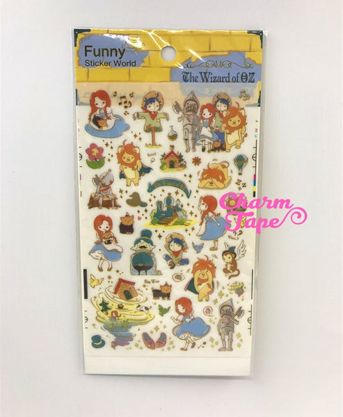 Fairy Tale Gold Foil Sticker - Cinderella, Wizard of Oz, Snow White by Funny ss330