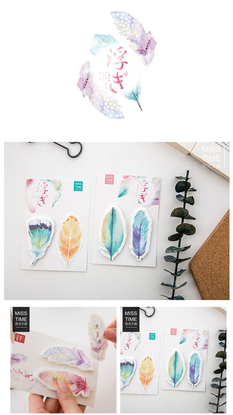 Feathers - Sticky Post-It Memo Note Pad 60sheets SS548