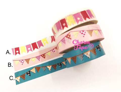 Washi Tape - Party flag bunting 11yards