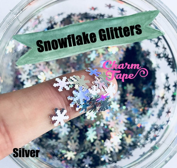 Snowflake Loose glitters 6mm UV resin / Holographic / Solvent Resistant / Slime Art / Nail Art / Resin Jewelry