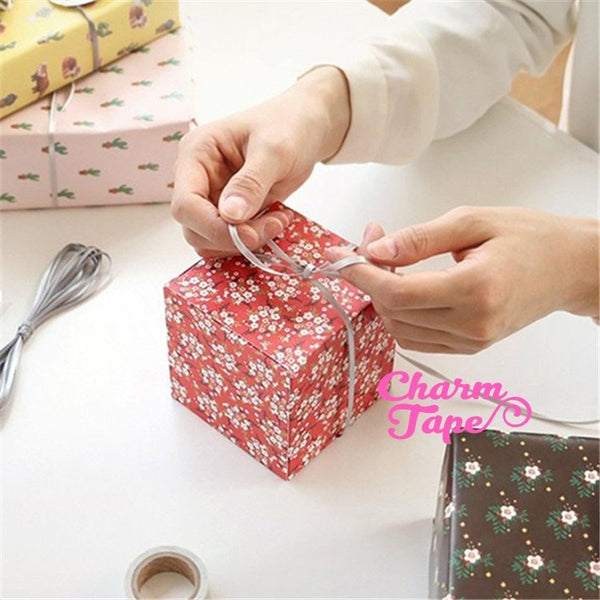 6pcs Gift Box, Square Boxes For Candy, Treat - Party Favors Bags 9x9 cm PB031