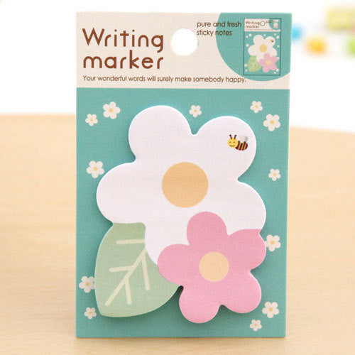 Copy of Green Clover Leaf Sticky Post It Memo Note Pad 20 sheets SS376 - CharmTape - 1