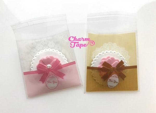 20/50/100 bags Ribbon Lace Cello Bags // Poly Bags // Self Sealing bags // Wedding Favor Bags // Party Bags CB766