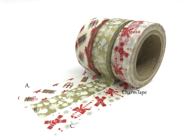 Christmas Washi Tape 15mm x 10 meters each