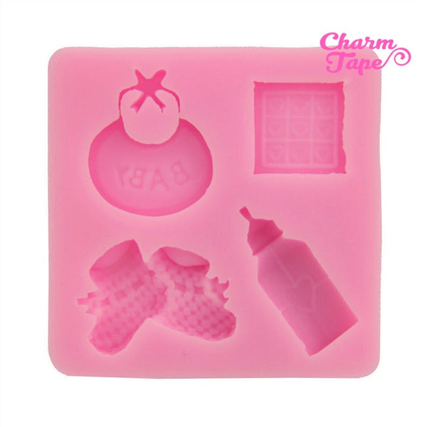 Baby Shower Theme Food Graded Silicone Mold for Cake, Fondant, Cake Decorating Supplies H1812