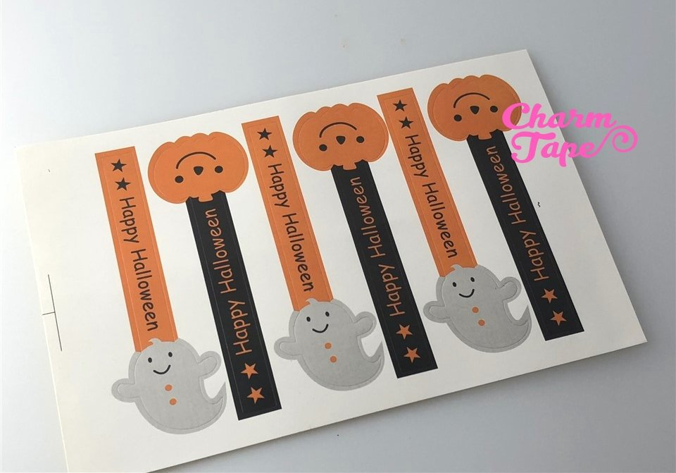 Halloween Long Sticker For Gift Packing Packaging 3/10/30 sheets GS002