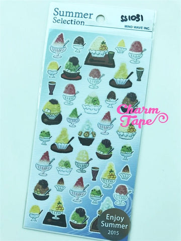 Ice Shave stickers by Japanese Mindwave 1 Sheets ss1031