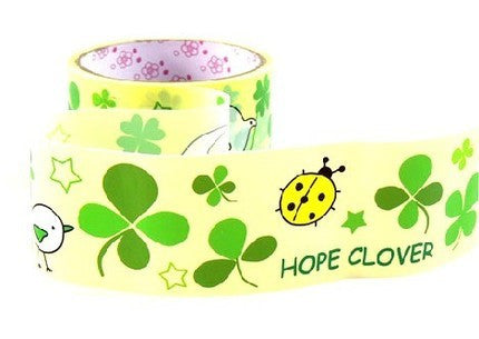 Yellow Deco Tape adhesive Stickers - Clover Leaf Ladybird DTB39 - CharmTape