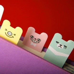 Sticky Memo Note Pad Colorful Happy Bear - CharmTape - 1