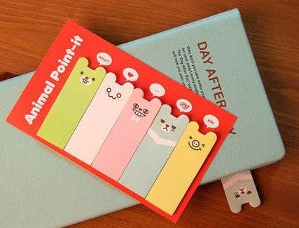 Sticky Memo Note Pad Colorful Happy Bear - CharmTape - 4