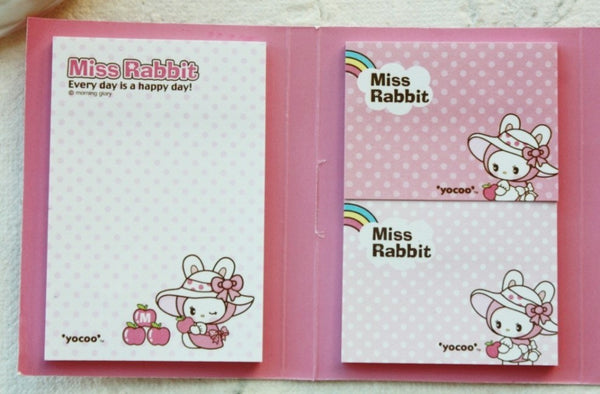 Post It Memo Pad - Miss Rabbit Polka dots - CharmTape - 2