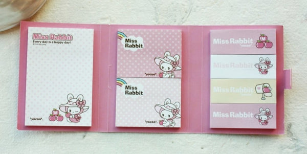 Post It Memo Pad - Miss Rabbit Polka dots - CharmTape - 4