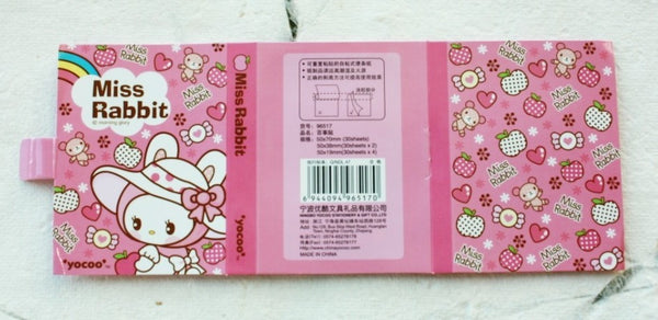 Post It Memo Pad - Miss Rabbit Polka dots - CharmTape - 5