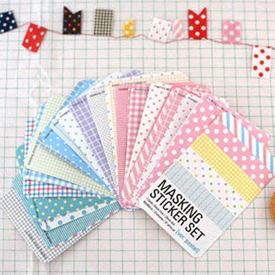 Pastel Masking Stickers - 27 sheets - CharmTape - 1