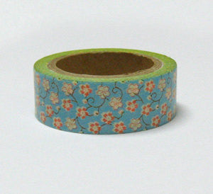 Washi Masking Tape Roll Adhesive Stickers - mini Sakura Flowers - CharmTape - 1