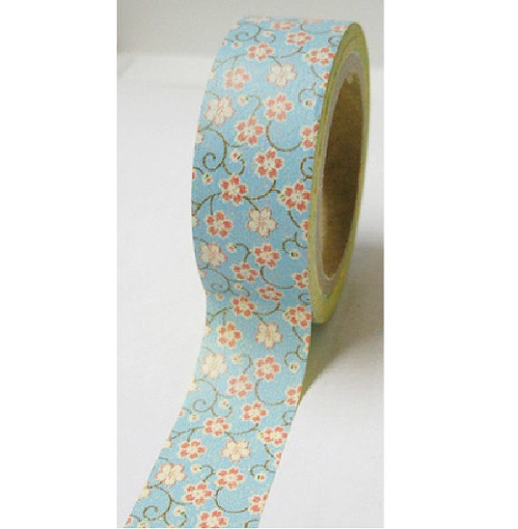 Washi Masking Tape Roll Adhesive Stickers - mini Sakura Flowers - CharmTape - 2