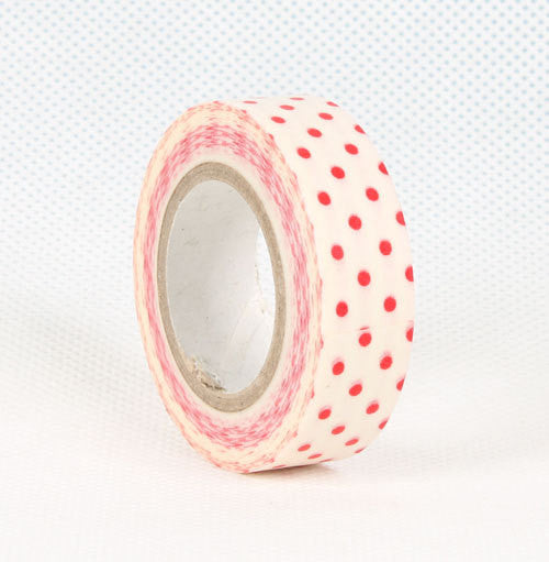 Red polka dots Washi Tape Roll 15mm WT27 - CharmTape