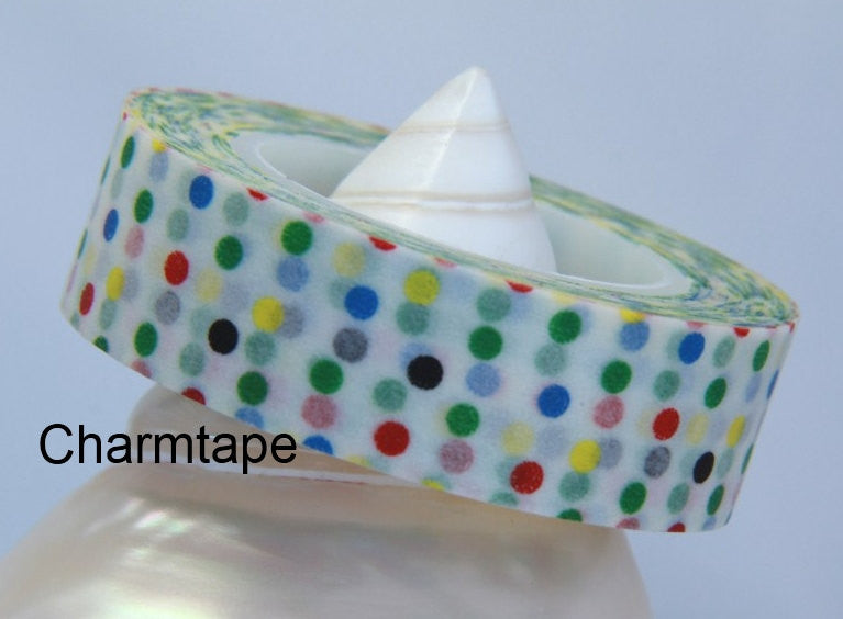 Colorful Polka dots Washi Tape 15mm x 10m WT31 - CharmTape - 2