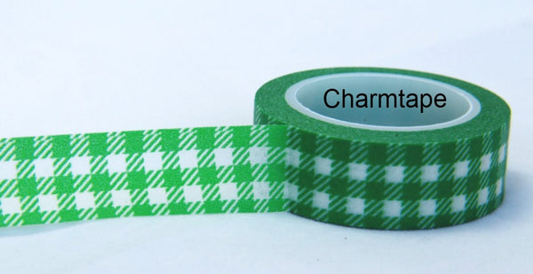 Gingham check Washi Tape 15mm x 10m WT30 - CharmTape - 3