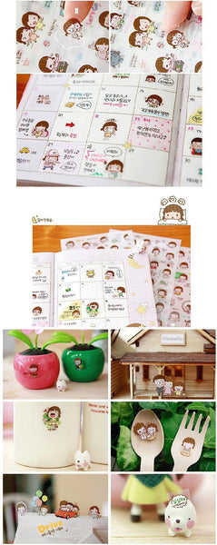 Momoi transparent journal Stickers - 6 sheets - CharmTape - 5