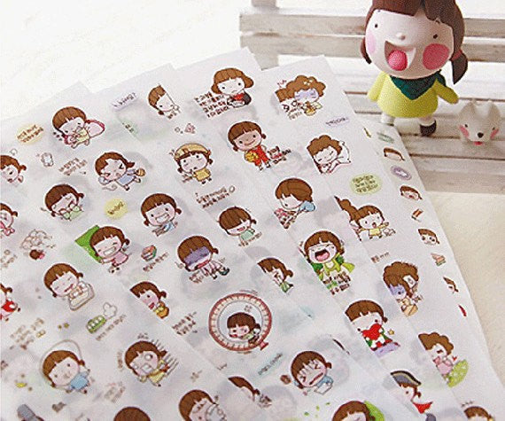Momoi transparent journal Stickers - 6 sheets - CharmTape - 1