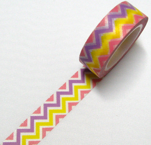 Colorful Chevron Washi Tape 15mm x 10m WT41 - CharmTape - 1