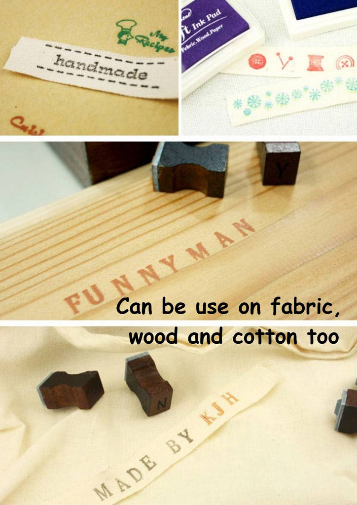 Stamp Ink Pad Oil Based Waterproof For Wood Fabric And Paper