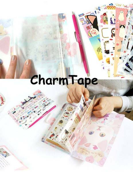 Jetoy Choo Choo cat Paper and Translucent Stickers 8 Sheets (c) - CharmTape - 2