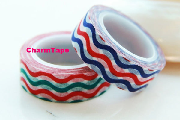 Waves Washi Tape 15mm x 10m WT52 - CharmTape - 1