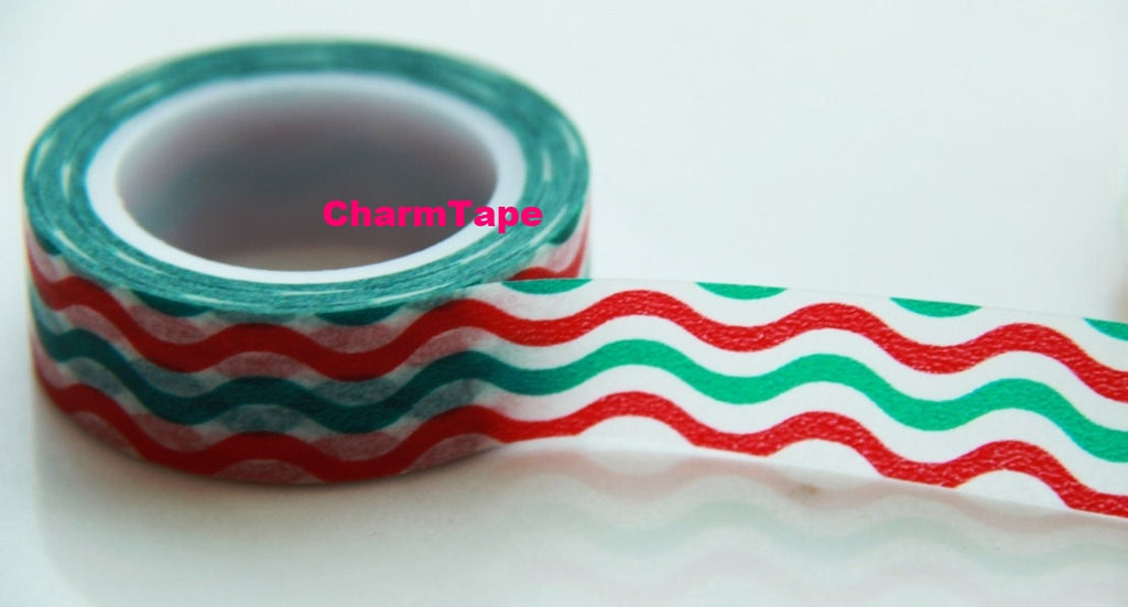 Waves Washi Tape 15mm x 10m WT52 - CharmTape - 2
