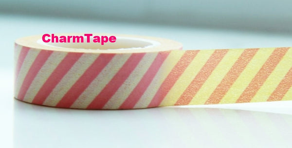 Stripes Washi Masking Tape Roll 15mm WT38 - CharmTape - 3